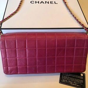 CHANEL Bags - Chanel Pink Chocolate Bar E/W Flap Bag  💕